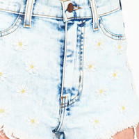 Daisies Cut Off Shorts - LoveCulture