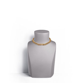 """dio(r)evolution"" necklace in gold-tone finish aged metal - Dior"