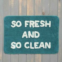 So Fresh So Clean Bath Mat- Turquoise 2X3