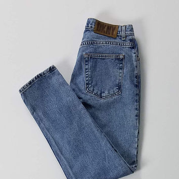 Vintage DKNY Five Pocket Denim Jeans Made In USA Size 8