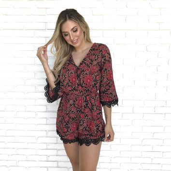 Lovely Hostess Print Romper