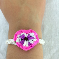 Heart Bracelet Kids Rainbow Loom Handmade Rubber Band
