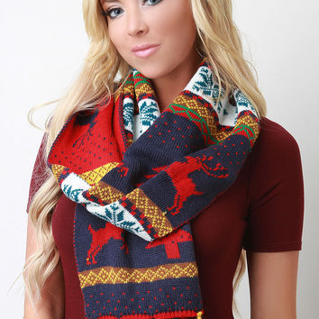 Colorful Christmas Scarf