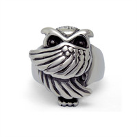 Retro Jewelry Cute Owl Stainless Steel Men's Rings (1 pc)
