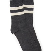 FOREVER 21 Varsity Striped Socks