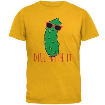 PEAPGQ9 Vegetable Pickle Dill Deal With It Mens T Shirt
