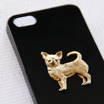 Chihuahua Apple iPhone 5 or 5s Classic Glossy Black Cellphone High Shine Case iPhone 6 Case