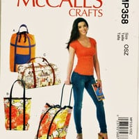 Rare McCalls Craft Pattern MP358 Luggage Cart Bags - Uncut FF Stylish Travel Bags & Luggage Sewing Patterns Supplies