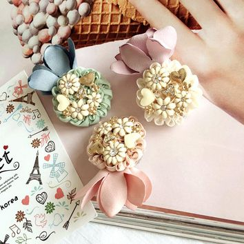 Korea Retro Daisy Flower Crown Bangs Clip  Hair Accessories  Rim Hair Clips For Women Fascinator Hairpin Hair Bows Headband 4