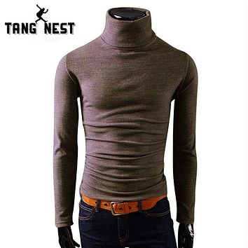 Men Winter Warm Turtleneck Pullover Thermal Sweater Multi Color Option Solid Design Soft Warm