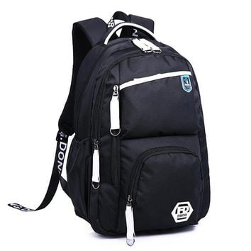 School Backpack trendy New 2018 Oxford Durable  For Boys Middle School Bookbag Water Resistant College Laptops Backpack Men Travel Bag AT_54_4