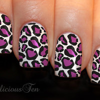 Transparent Leopard Skin Print Nail Art Water Transfer by azzai