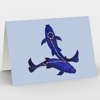 Astrological sign Pisces constellation Stationery Card Stationery Card