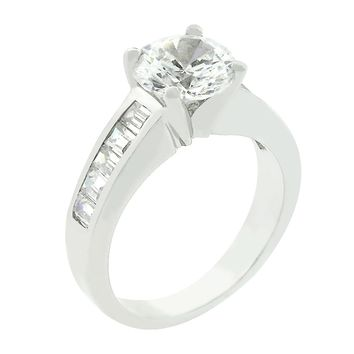 Classic Baguette Anniversary Ring Size 7