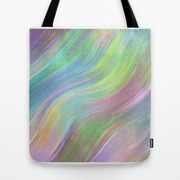 COLOUR WAVE Tote Bag by catspaws