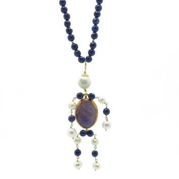 Composition in Pearls and Agates, Necklace