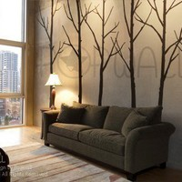 Tree Wall Decals Wall Stickers Tree Decal Winter Trees by NouWall