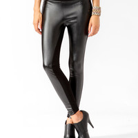 Faux Leather & Ponte Pants