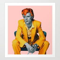 pinky bowie 2 Art Print by Startistunknown