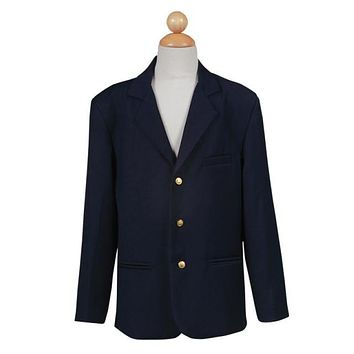 Boys Navy Blazer with Gold Buttons - LT601