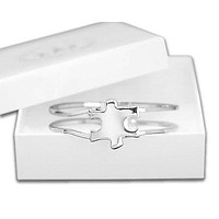 Autism Awareness Puzzle Clasp Bangle Bracelet