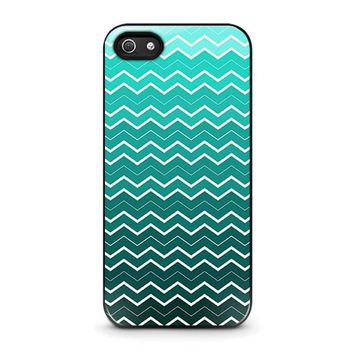 OMBRE TEAL CHEVRON Pattern iPhone 5 / 5S / SE Case Cover