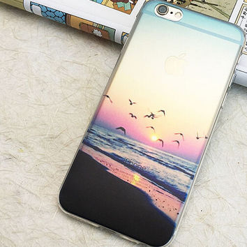 Beautiful Seagull iPhone 5S 6 6S Plus creative case + Gift Box-127