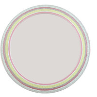 Pink and Yellow Round Mosaic Mirror, Nursery Decor