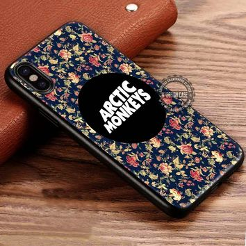 Arctic Monkeys Floral Vintage Flower iPhone X 8 7 Plus 6s Cases Samsung Galaxy S8 Plus S7 edge NOTE 8 Covers #iphoneX #SamsungS8