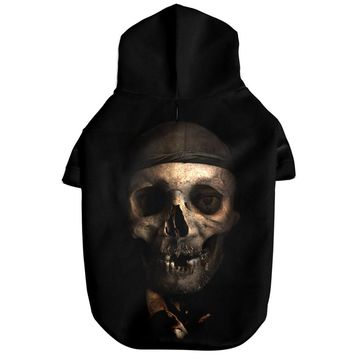 3D Dog Hoodie Sweatshirts for Pet Zombie Skull