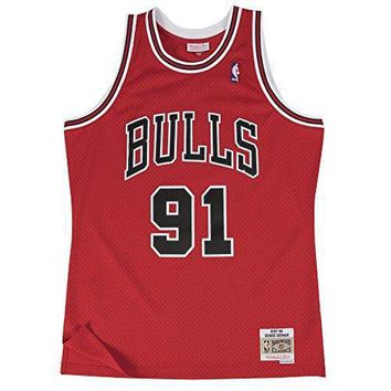 Dennis Rodman Chicago Bulls Mitchell & Ness Nba Throwback Hwc Jersey Red