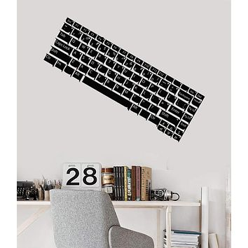 Vinyl Wall Decal Computer Keyboard IT Gamer Teen Room Stickers Mural Unique Gift (483ig)
