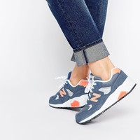 New Balance 580 Blue Suede/Mesh Sneakers
