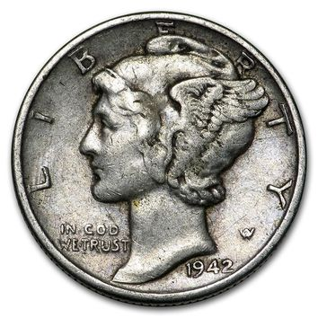 1942 Mercury Dime Good/VF