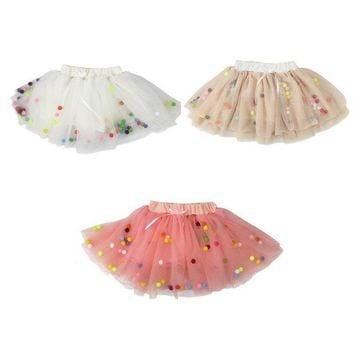 0-4Y Kids Baby Girls Tulle Princess Tutu Skirt Pettiskirt Party Dress Dancewear