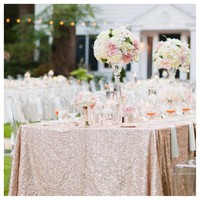 Hot 120x200cm Champagne Sequin Tablecloth Gold/Silver Rectangle Table Cloth for Wedding Party Banquet Decoration Table Cloth