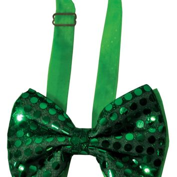 Bow Tie Green Sequin Light Up Halloween Prop accessories