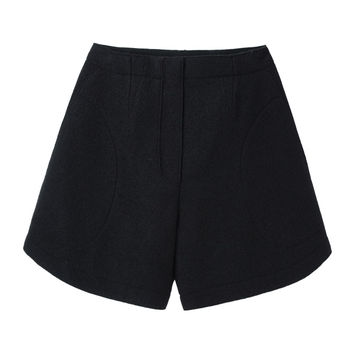 Carven / Crushed Wool Shorts  |   La Garçonne