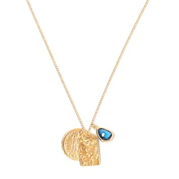 Tess and Tricia Lyra Deep Blue Charm Trio Necklace