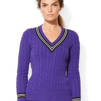 Lauren Ralph Lauren Cable Knit Cricket Sweater