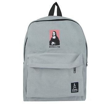 Mona Lisa Embroidered Backpack