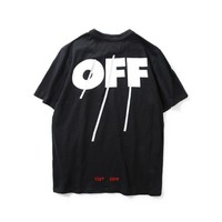 spbest Off-White Off Stripe Print You Cut Me Off T-Shirt