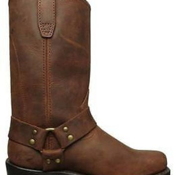 Dingo Mens Harness Boots Gaucho Brown Leather DI19074