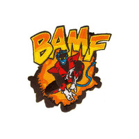 Nightcrawler X-Men Bamf Iron-On Patch