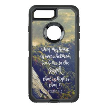Lead me to the Rock Psalms Bible Verse OtterBox Defender iPhone 7 Plus Case