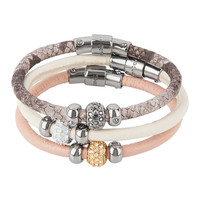 Triple Leather Louis Bracelet