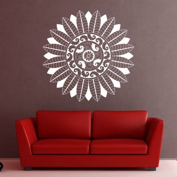Vinyl Decal Ornament Circle Mandala Meditation Relaxation Wall Sticker (n875)