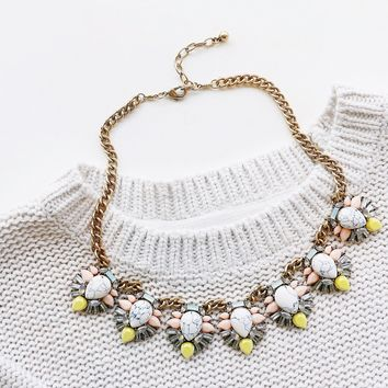 Marbled Spring Statement Necklace