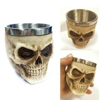 halloween party Skull Tankard 3D mugs gift Coffee Beer Cup Mug Scary Drinking Cup Halloween Festival Halloween Decorations 3