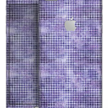 Purple Watercolor Polka Dots - Skin-kit for the iPhone 8 or 8 Plus